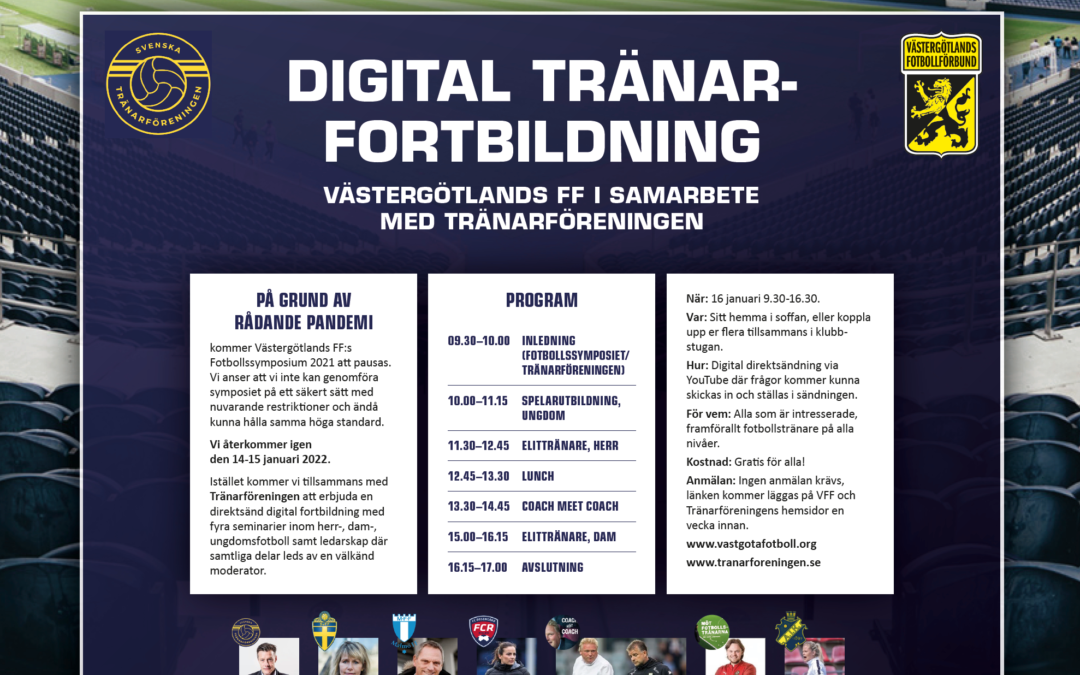Digital tränarfortbildning – 16 januari 2021